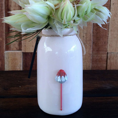 Bottle With Protea Pink