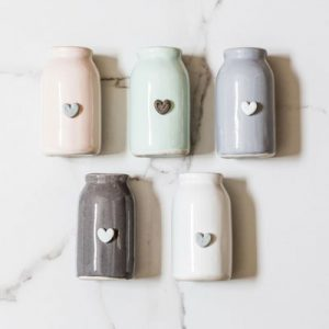 Ceramic Bottle with Heart