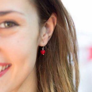 Nunu Heart Dangle Earrings