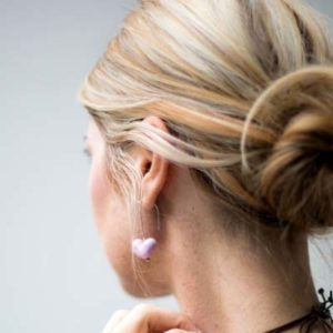 Plain Heart Earrings