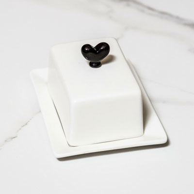 Small Butter Dish Black