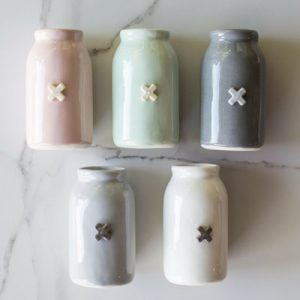 Ceramic Bottle with Cross colours