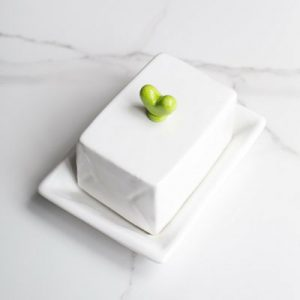 Large Butter Dish With Heart