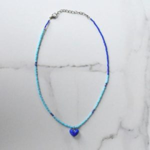 Beaded Heart Necklace 2